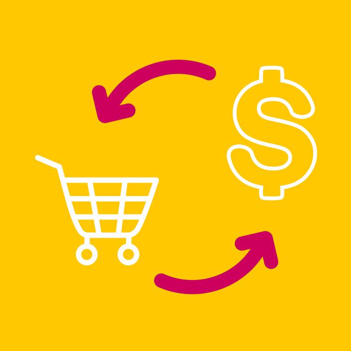 Como definir a política de trocas da loja online