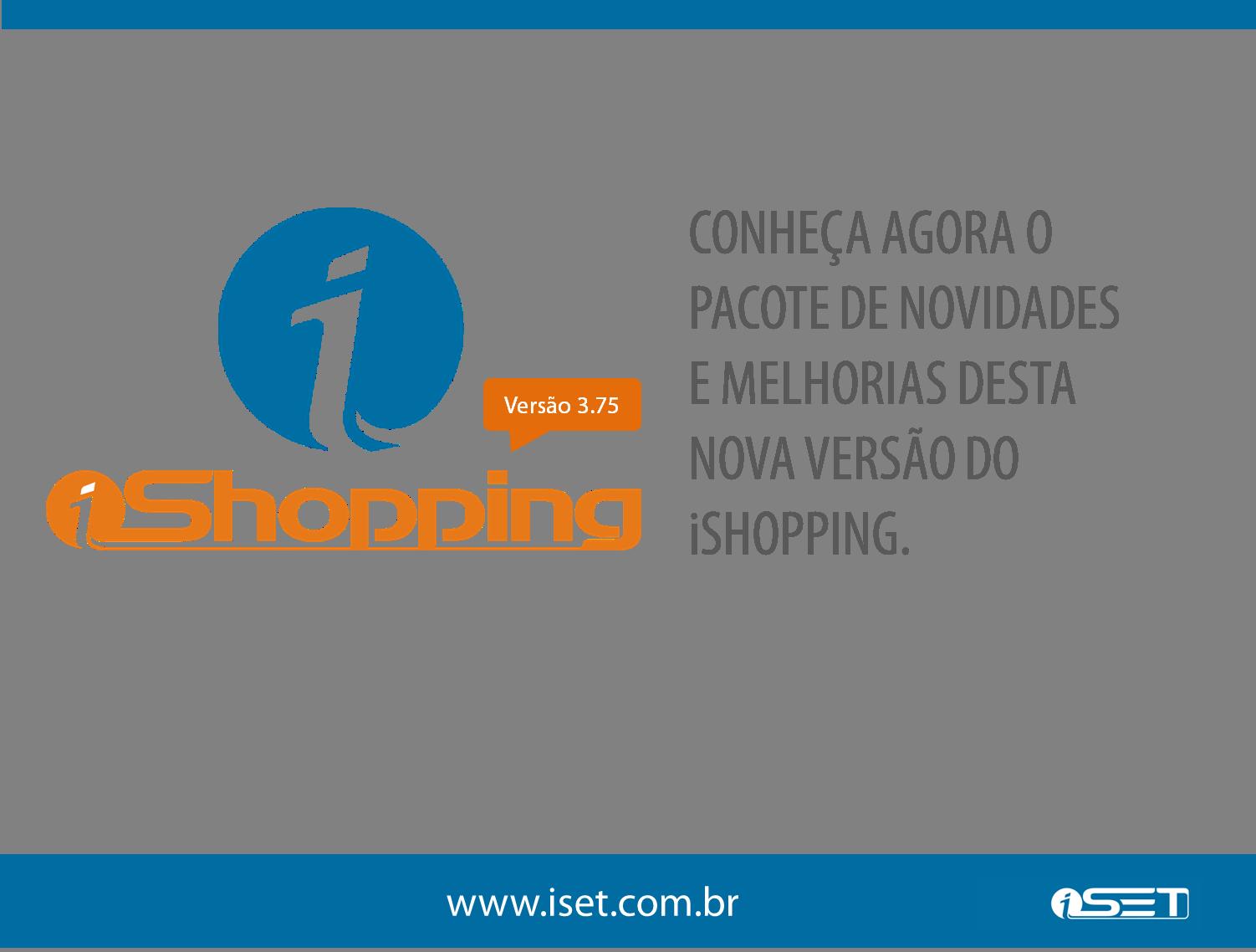 Novidades iShopping: versão 3.75